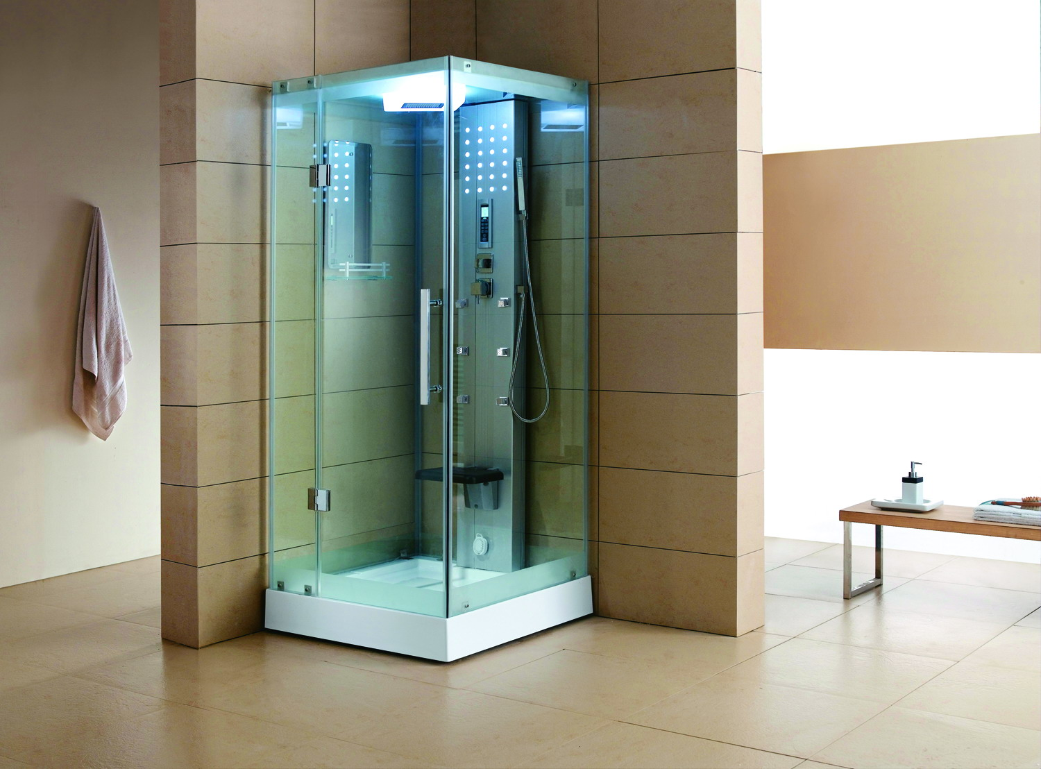 brushed doors steam nickel gallery our page frameless door shower