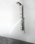 FSP8009BS Geona (Brushed Silver) Thermostatic Shower Massage Panel