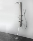 FSP8007BS Prato (Brushed Silver) Thermostatic Shower Massage Panel