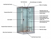 Platinum DZ959F8L Steam Shower-White