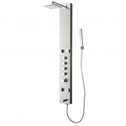 FSP8001BS Pavia (Brushed Silver) Thermostatic Shower Massage Panel